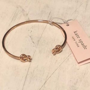 Kate Spade Rose Gold Loves Me Knot Cuff Bracelet
